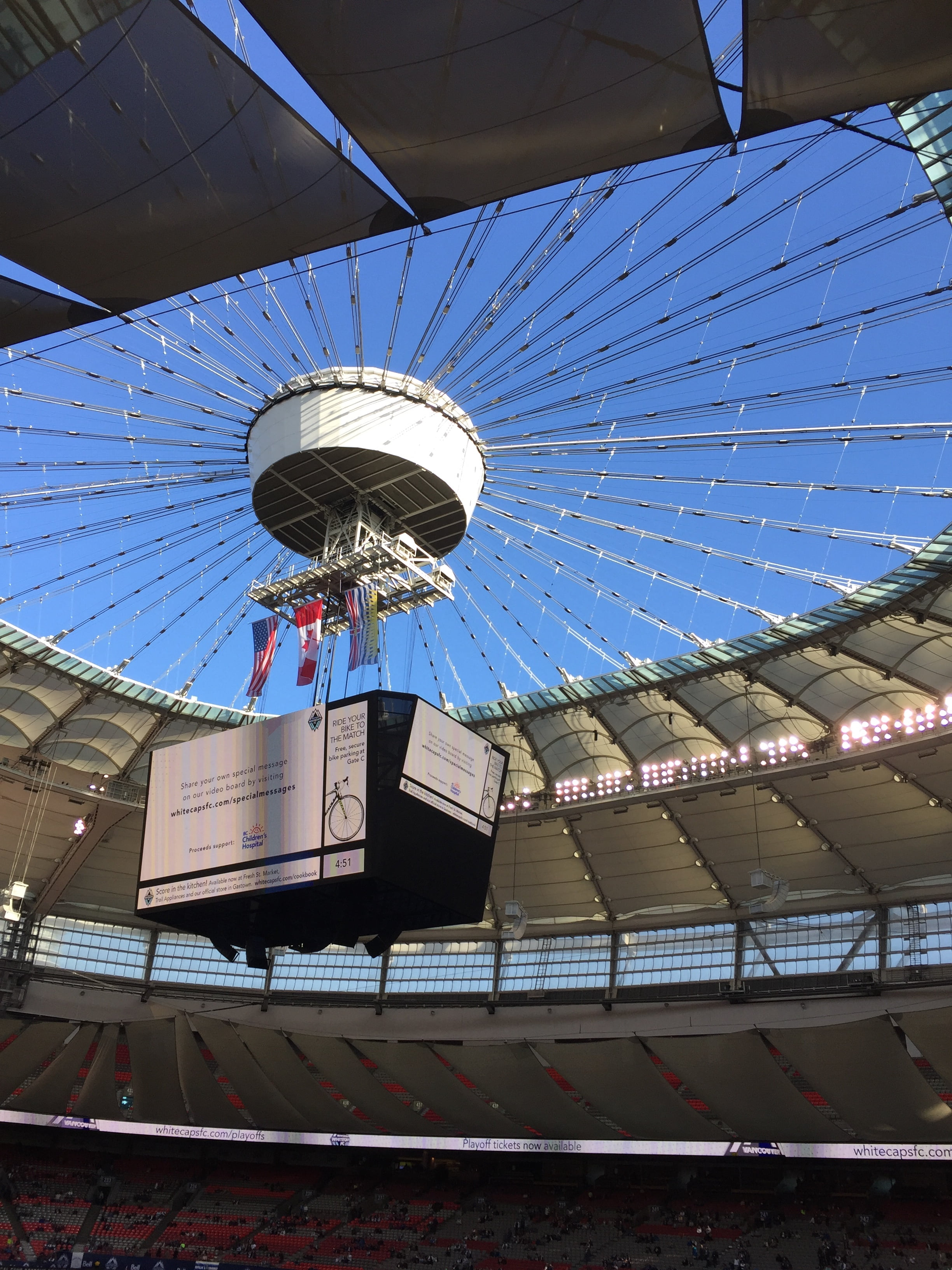 BC Place Stadium with Roof Open