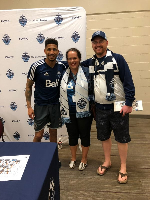 Couple Meet Whitecaps Defender Post-Soccer Match