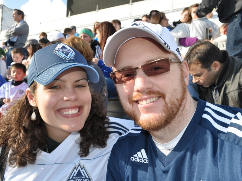 Couple at Whitecaps Inaugural MLS Match