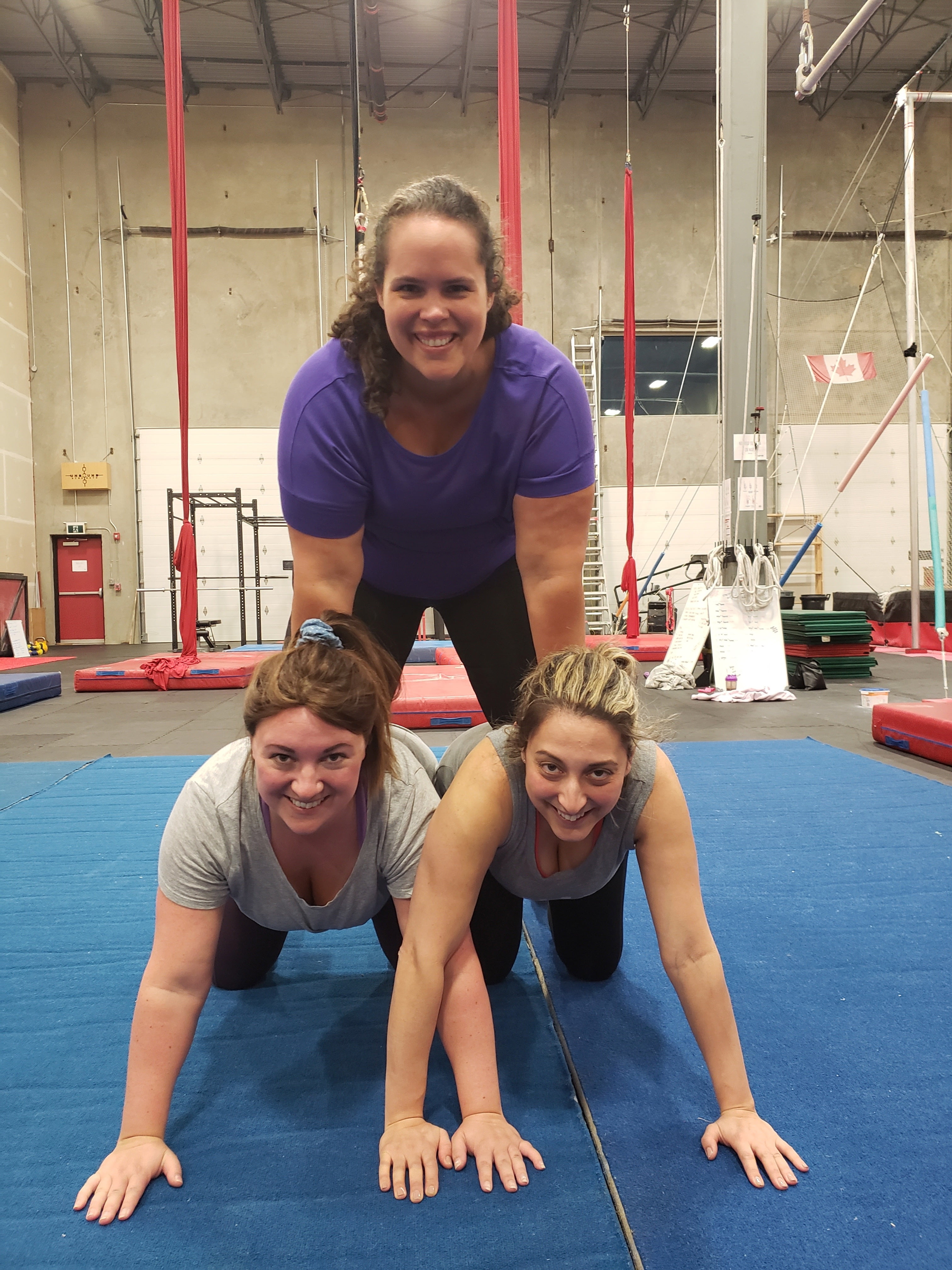 Three Women Pyramid at Circus Gym