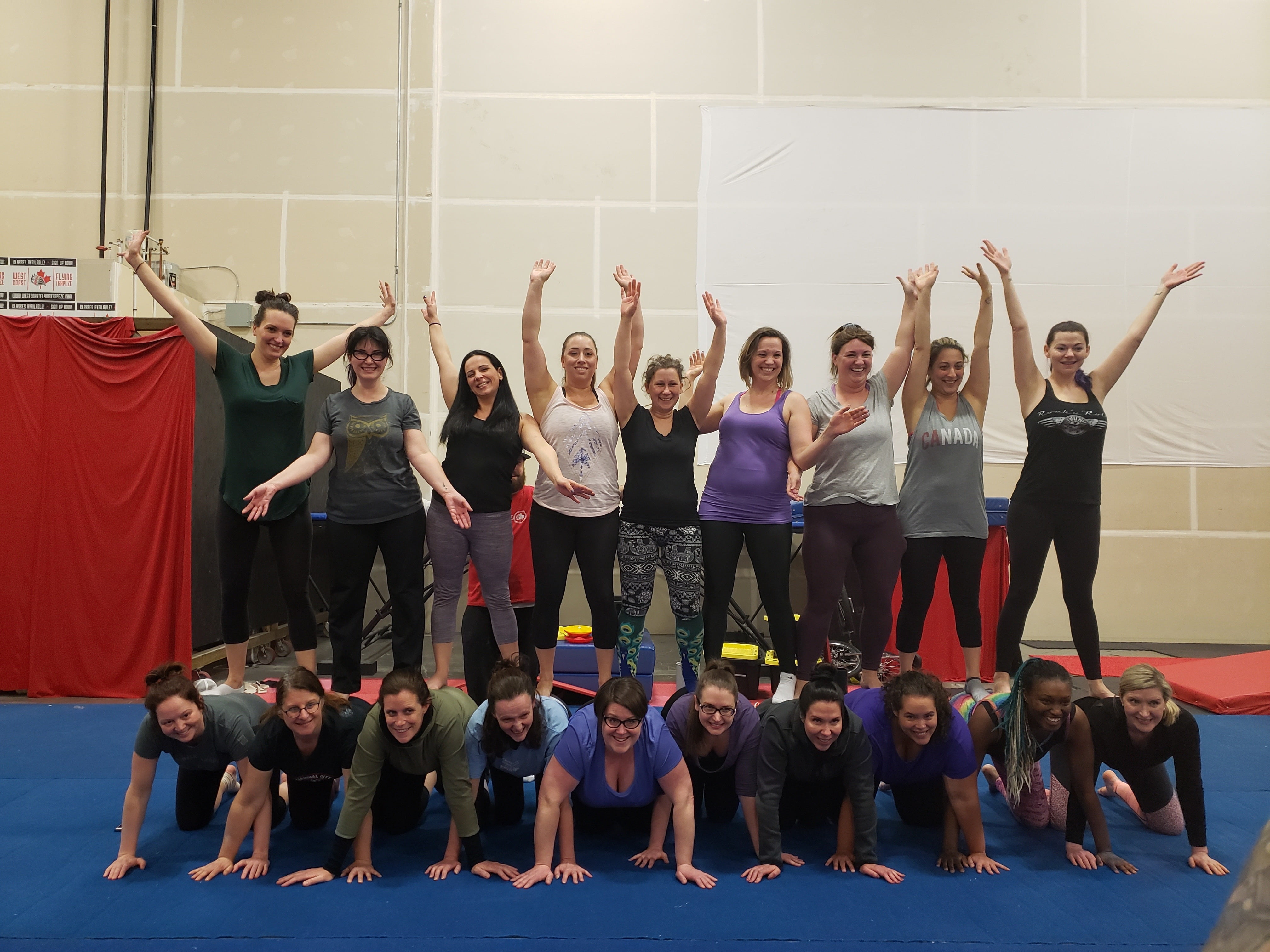 All Amateur Women Circus Pyramid