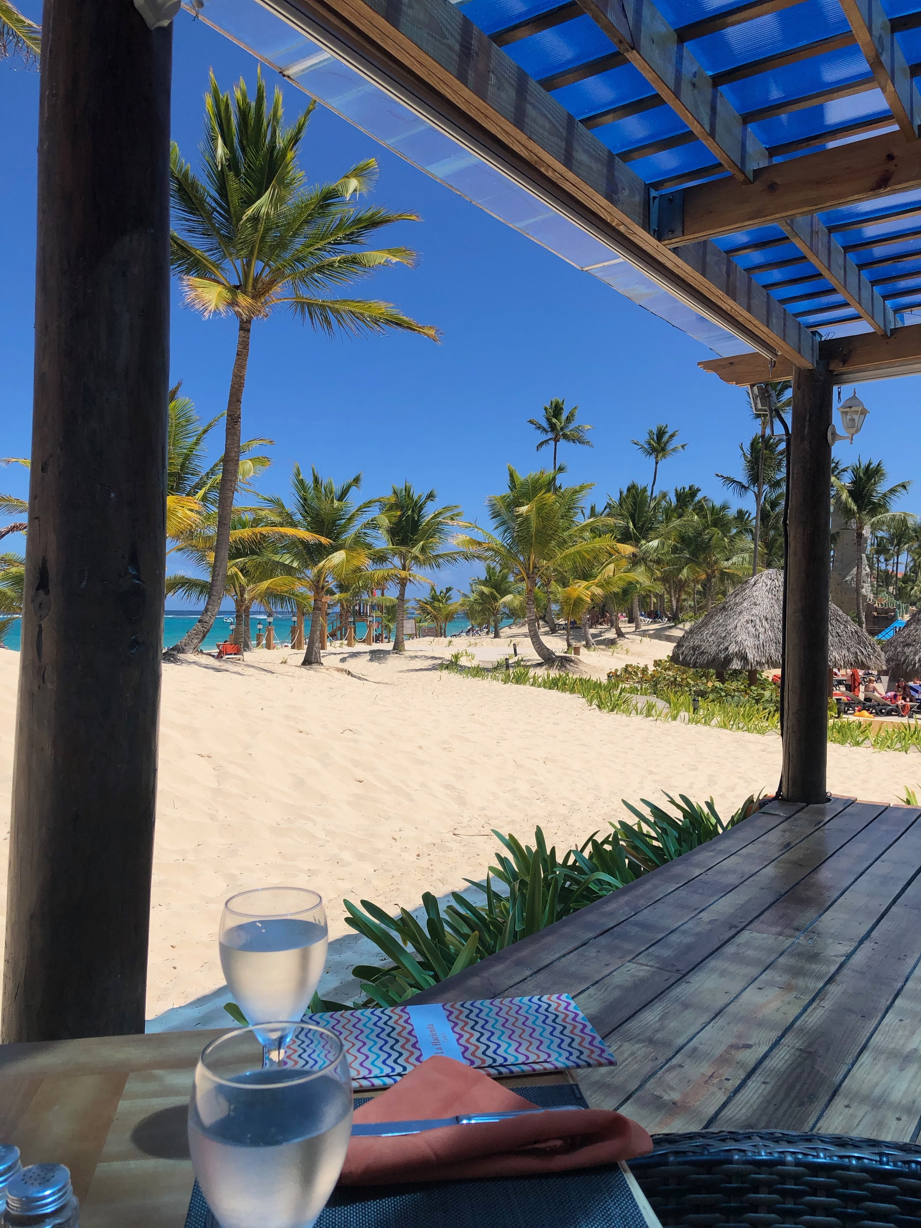 View of Beach from Restaurant in Dominican Republic