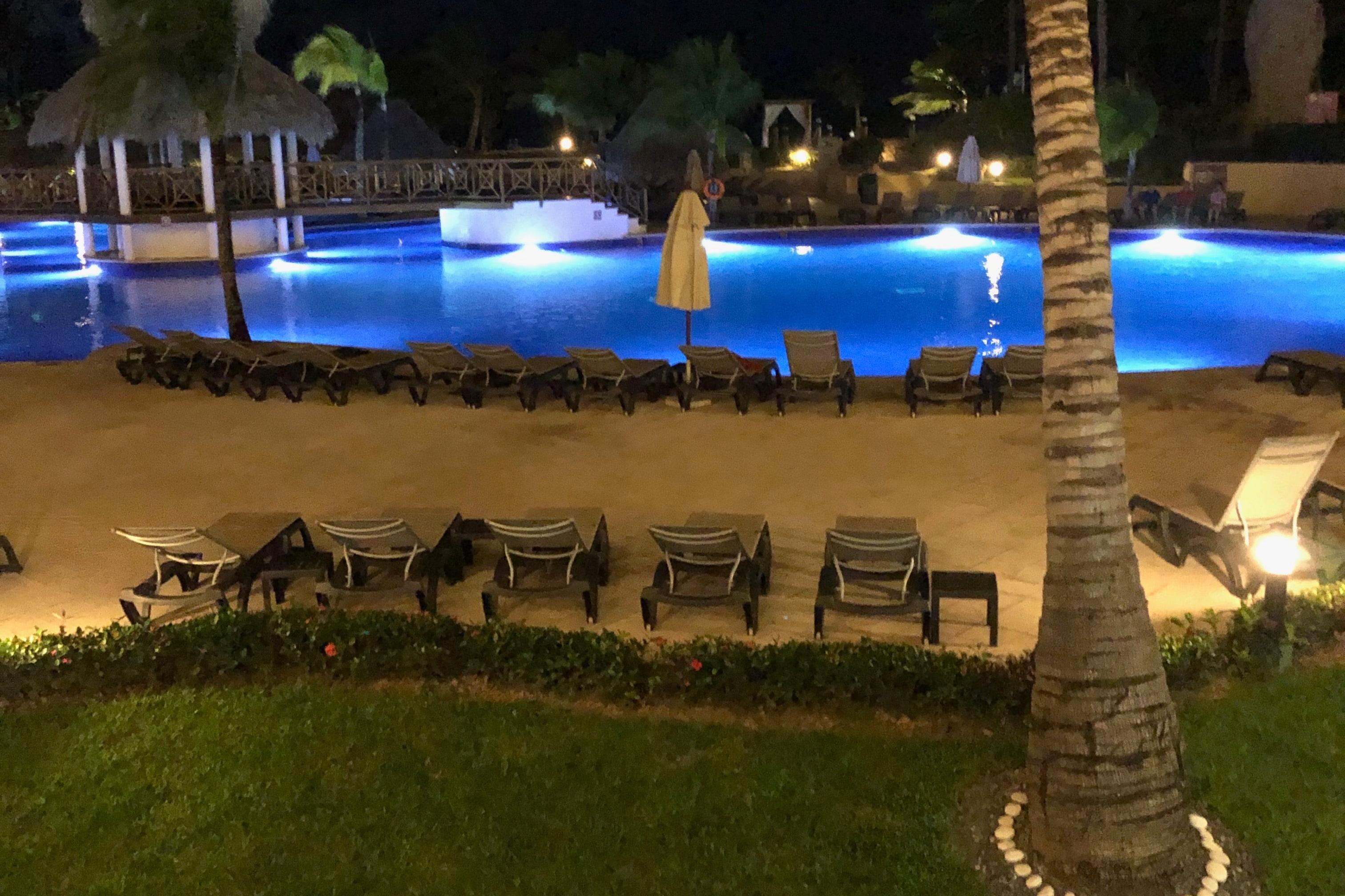Pool at Resort in Dominican Republic at Night