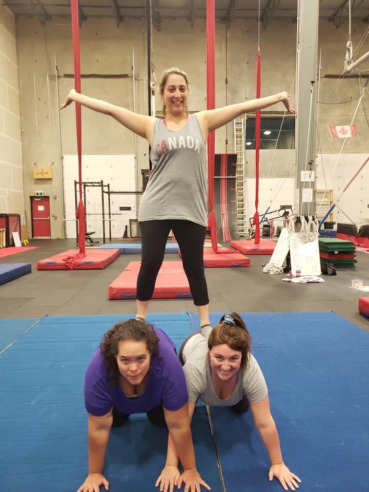Three Women Amateur Pyramid Standing