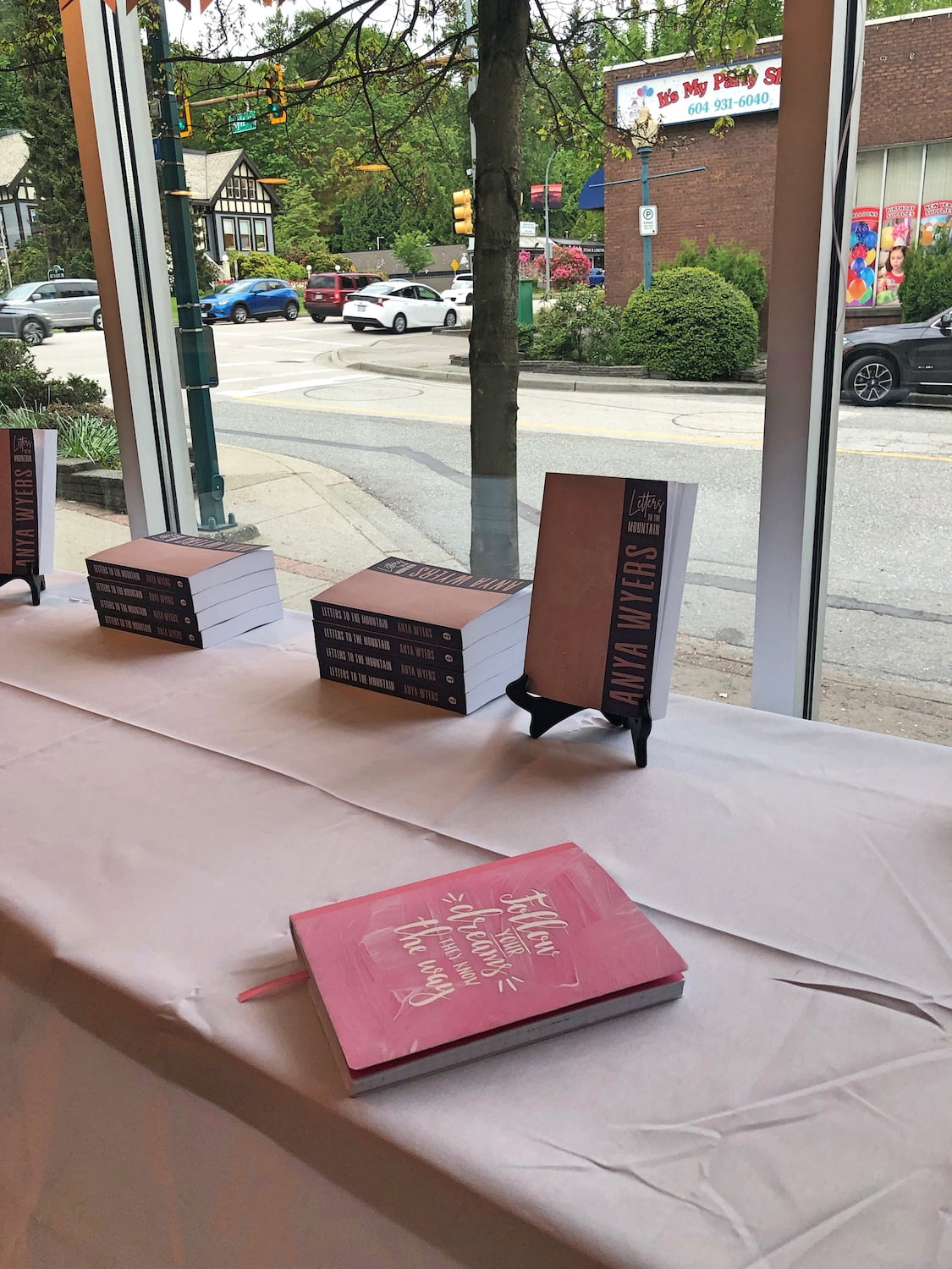 Letters to the Mountain Books on Display