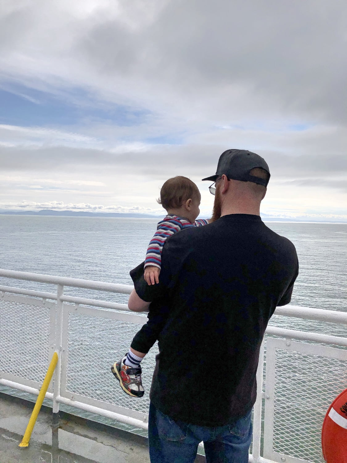 Man and son on BC Ferry