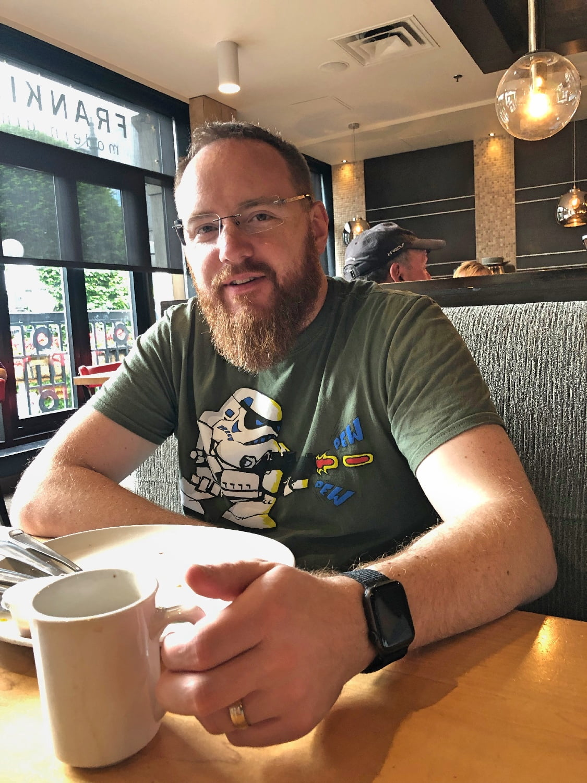 Man with Beard drinking coffee