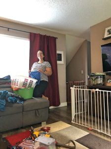 Picture of Mom doing laundry taken by Son