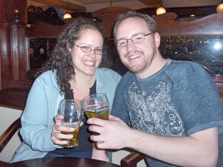 Young Couple at Irish Pub