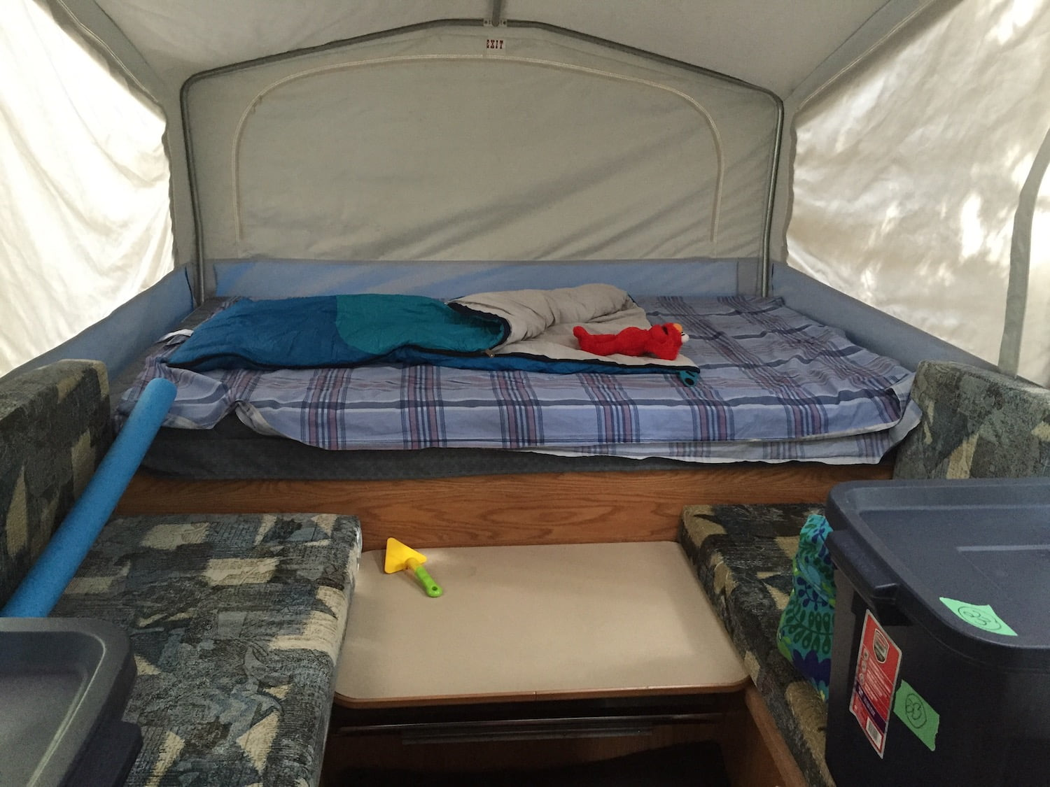 Double Bed in Jayco Tent Trailer