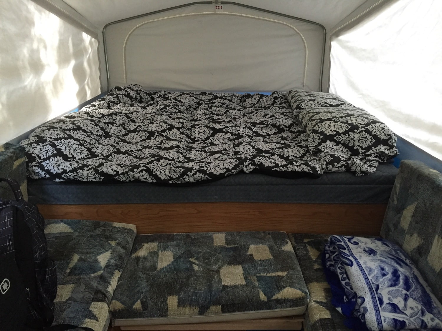 Queen Bed in Jayco Tent Trailer