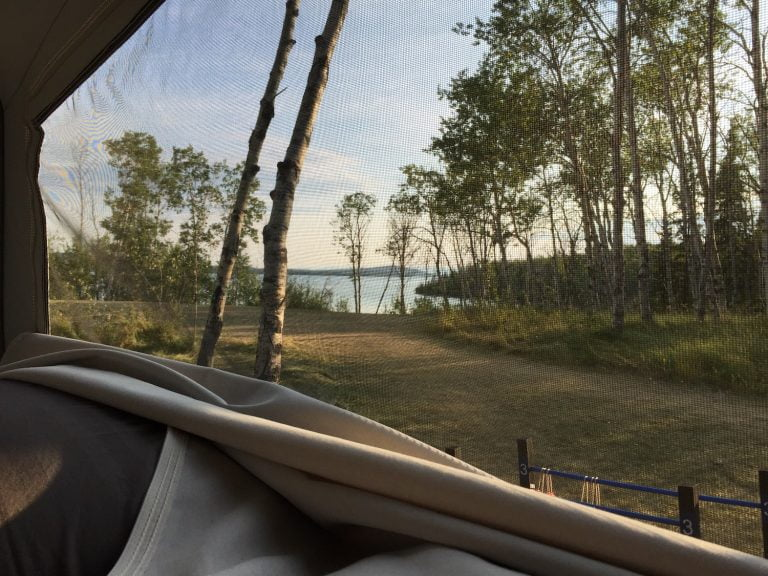 View of Green Lake from Tent Trailer