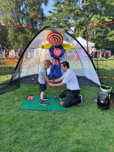 Five-Year-Old Learning Golf