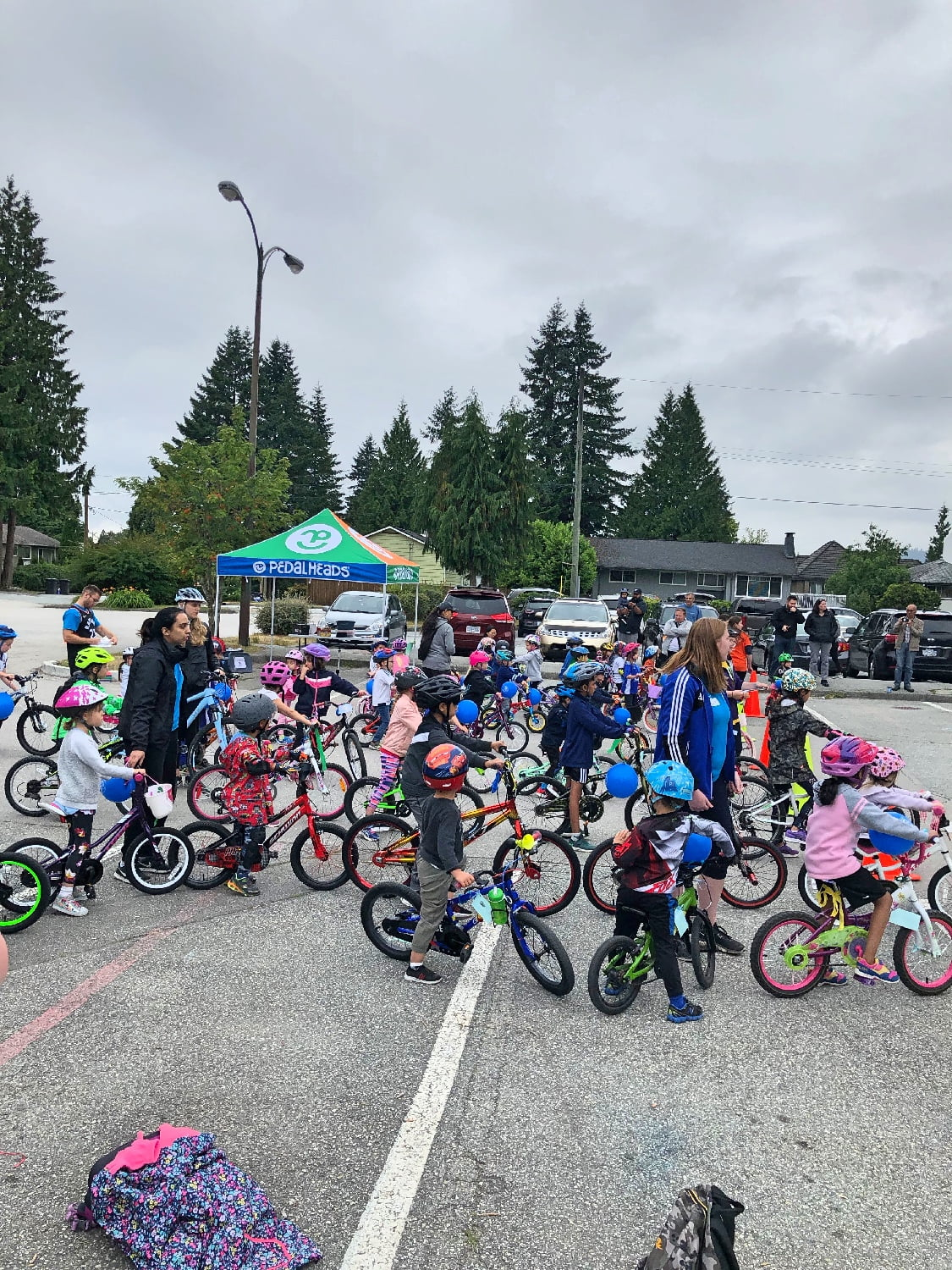 Group of Kids at Pedalheads Camp