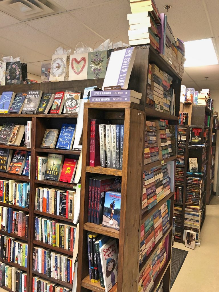 Letters to the Mountain on Shelf at Tomes and Tales Bookstore