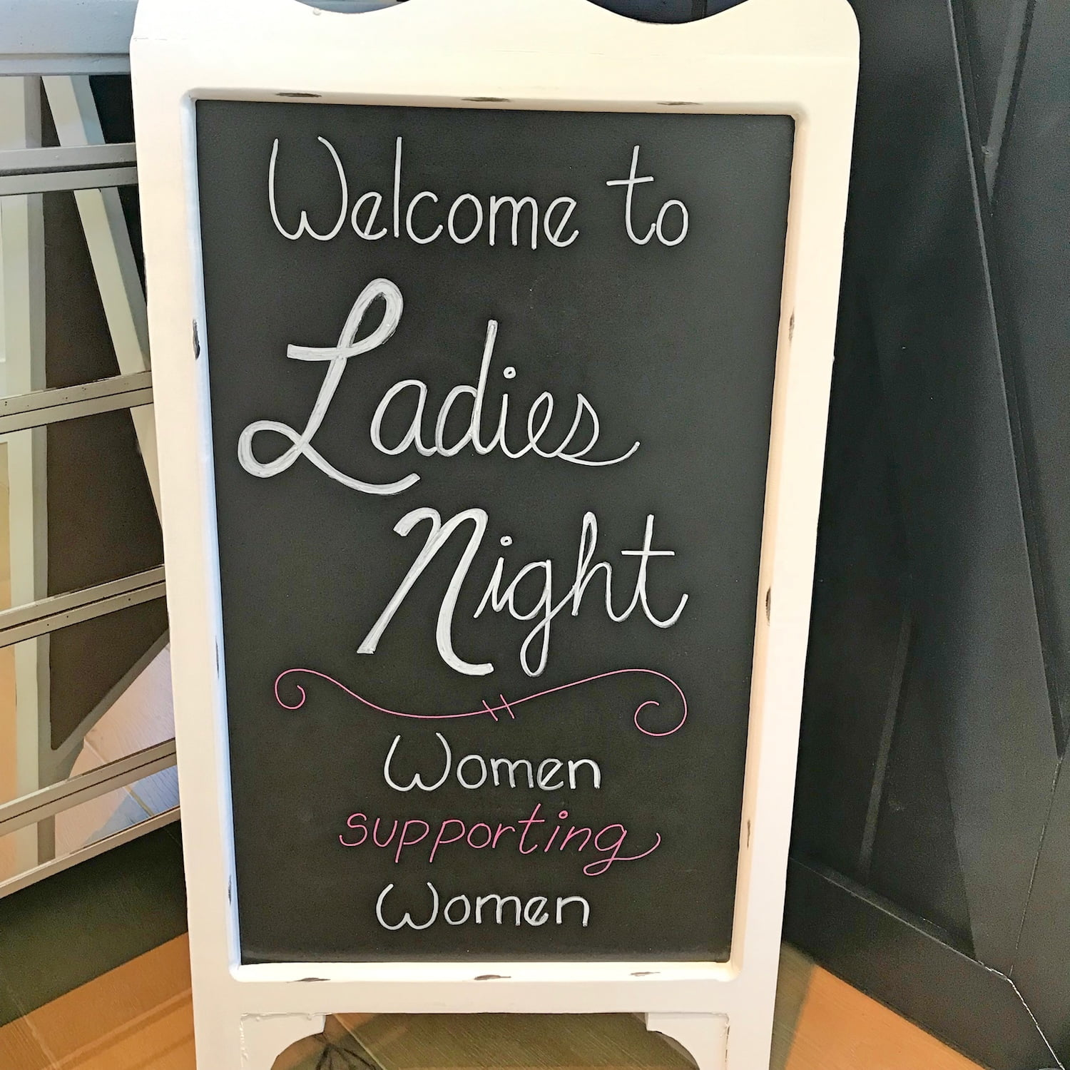 Welcome to Ladies Night Sign