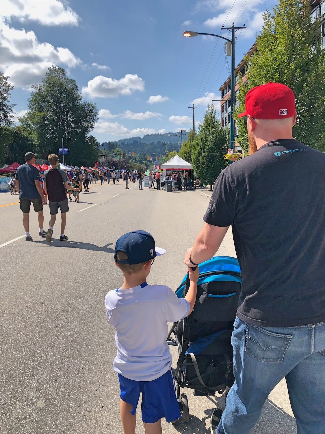 Car-Free Day Port Moody 2019 - Family Walking