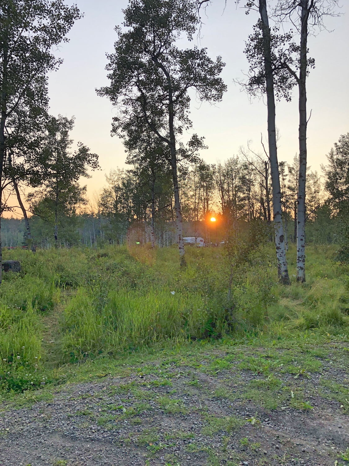 Sunset at Emerald Bay Campground, Green Lake Provincial Park