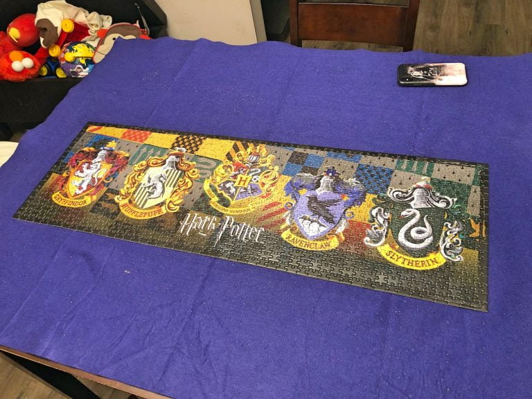 Completed Harry Potter Puzzle on Table