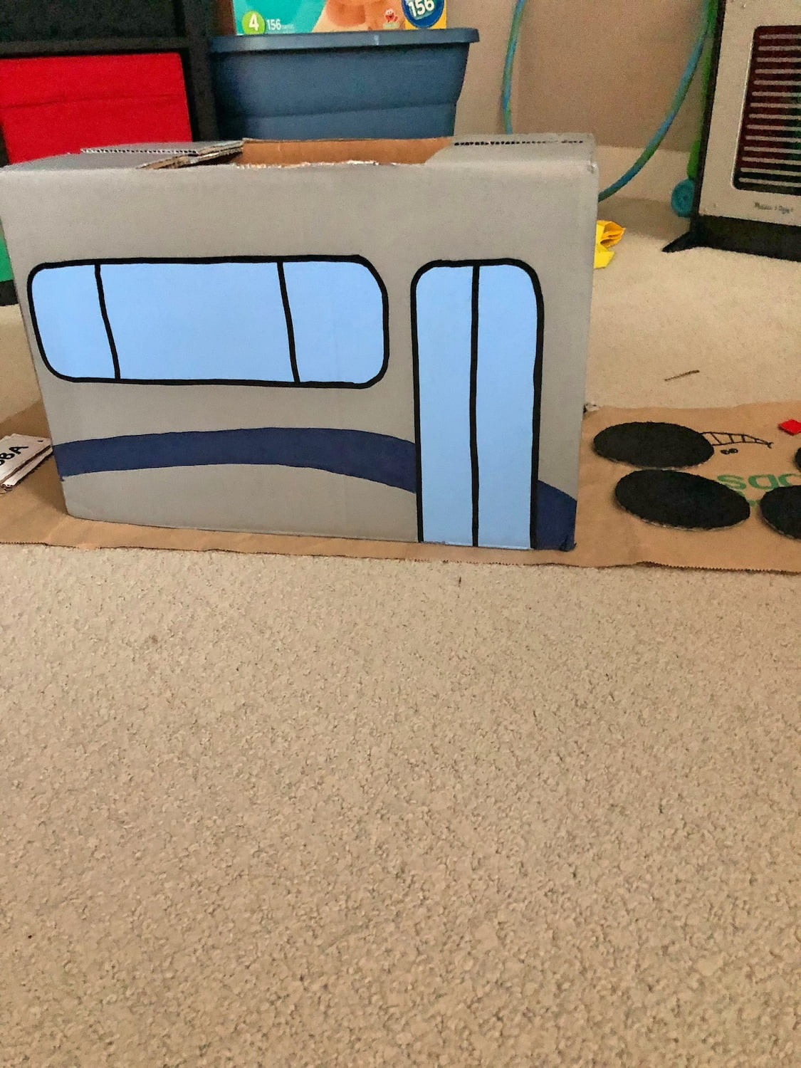 Halloween Costume In Progress - Painting a Bus (2)