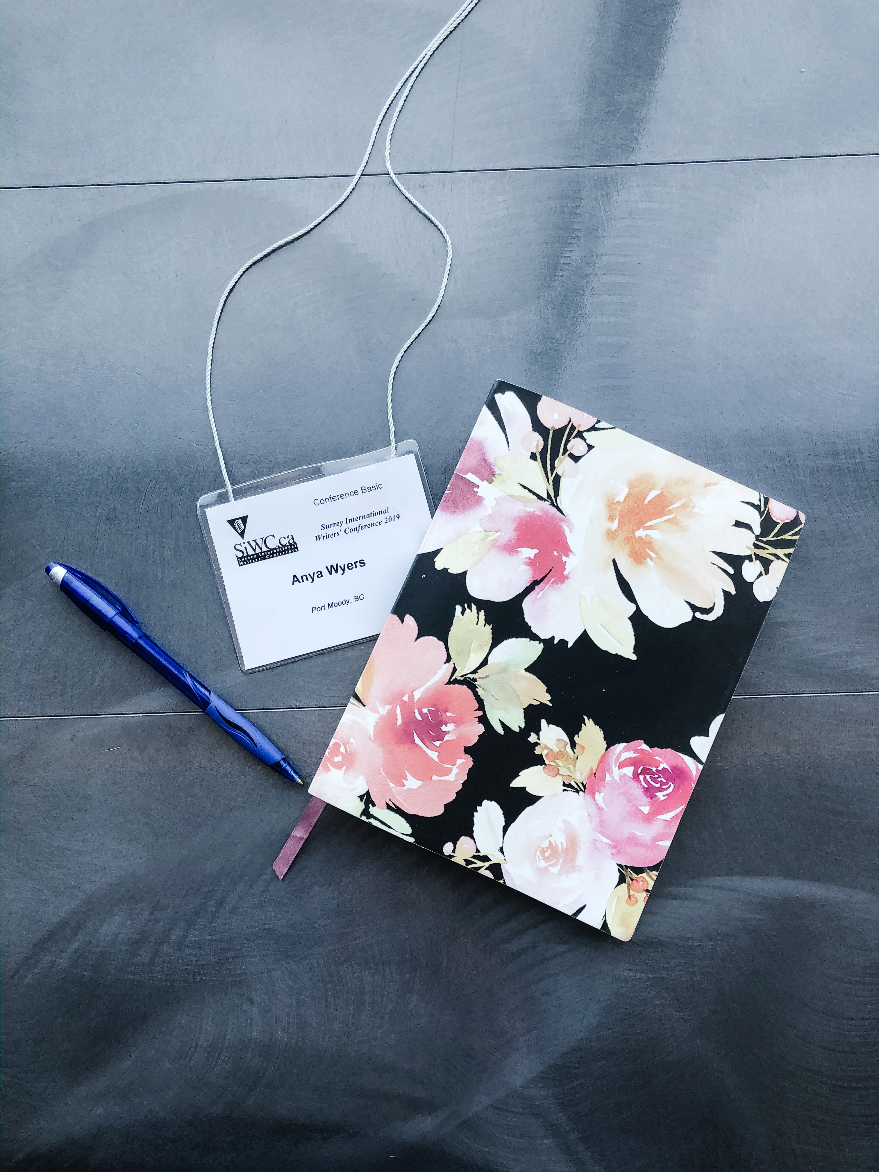 SIWC Surrey International Writer's Conference 2019 - Notebook and Nametag