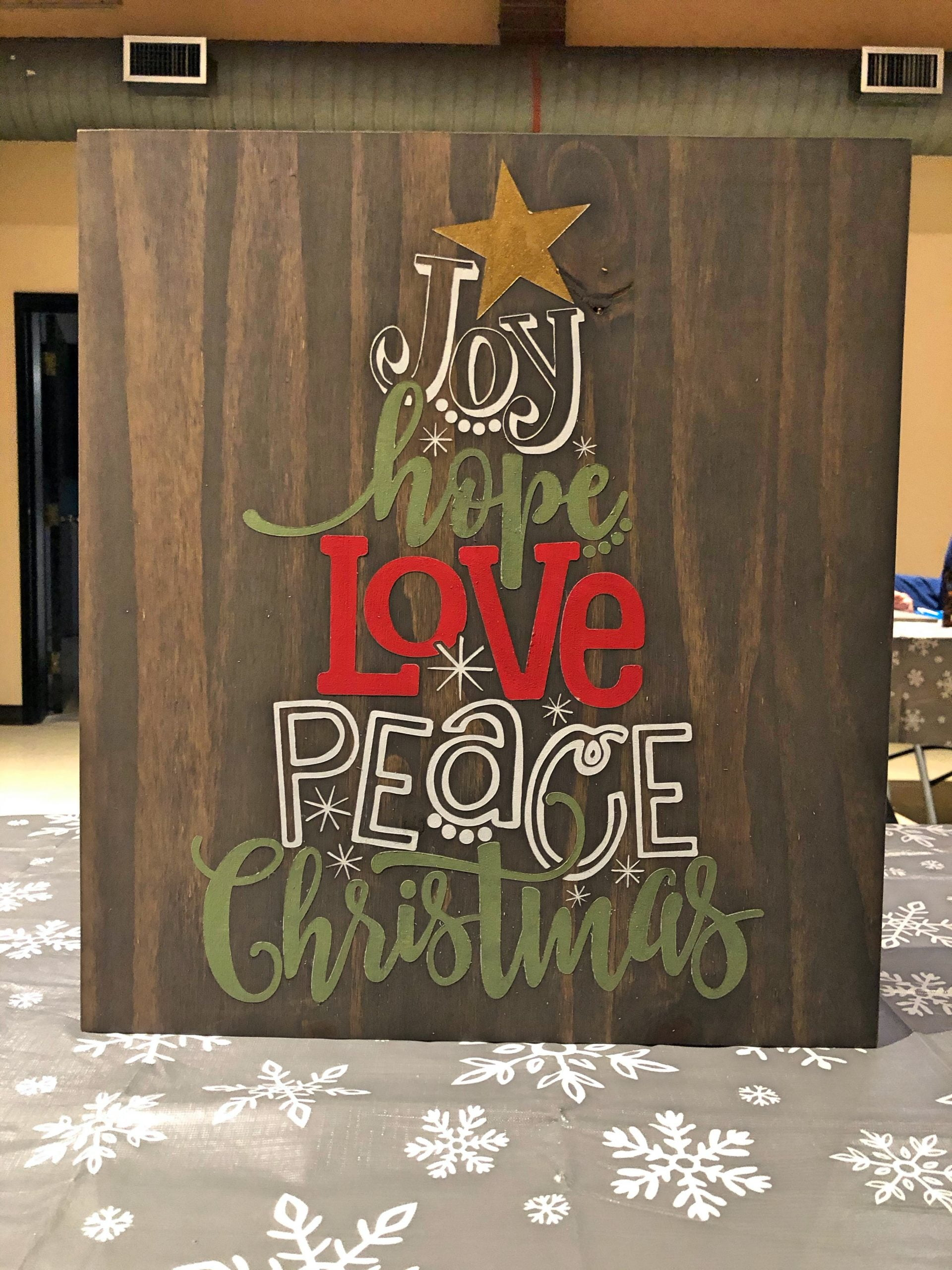 Christmas Sign Painting - Finished Product