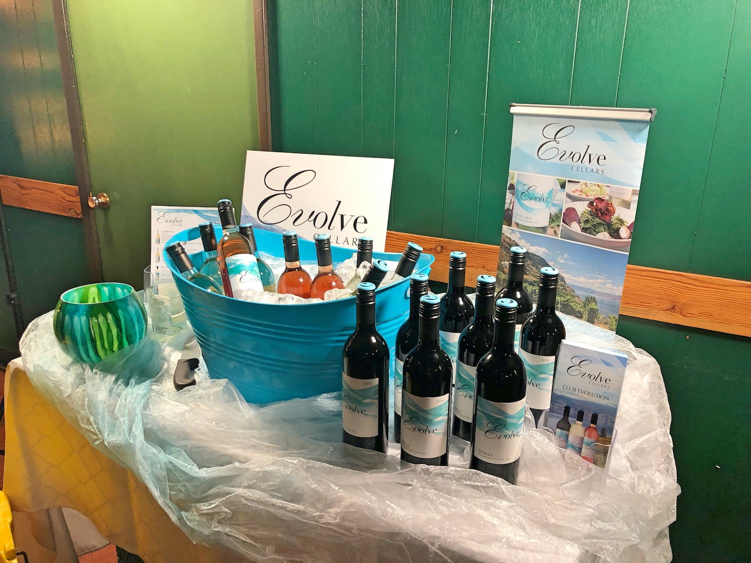 Evolve Cellars Display at Mom Camp