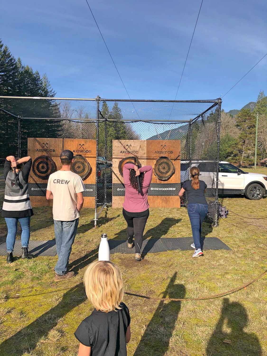 Women Axe Throwing