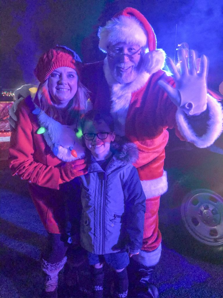 Archer with Santa and Mrs. Claus