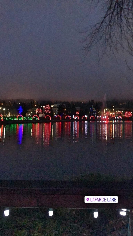Christmas Lights at Lafarge Lake, Coquitlam