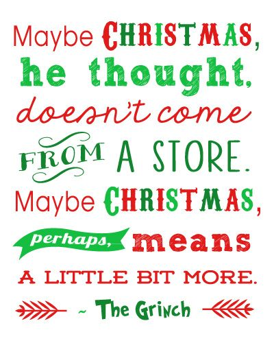 Grinch Quote about Christmas