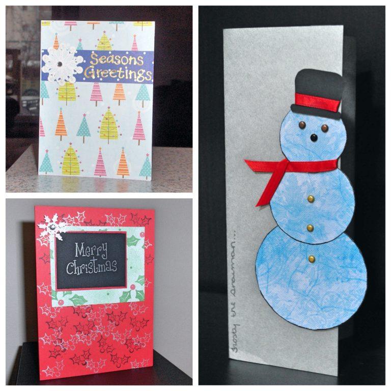 Handmade Christmas Cards Collage 1