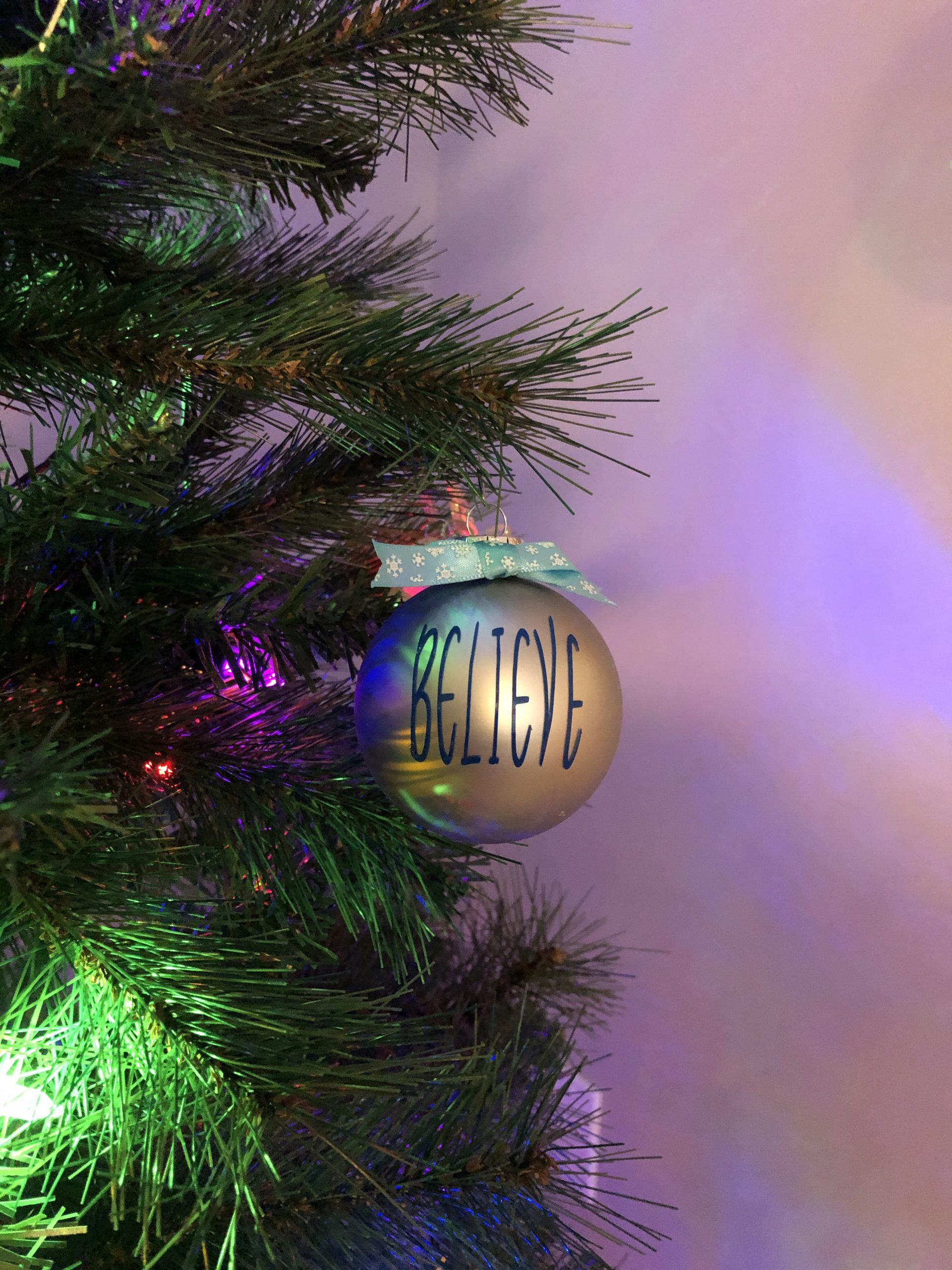 "Simply Sheila Designs Christmas Ornament ""Believe"""