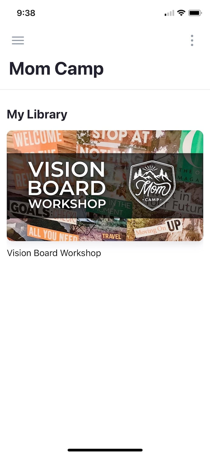 Screen Shot of Mom Camp VIsion Board Workshop Logo