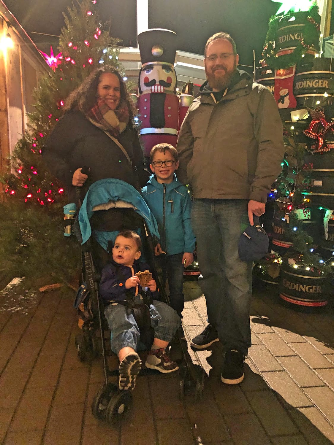 Family at Vancouver Christmas Market
