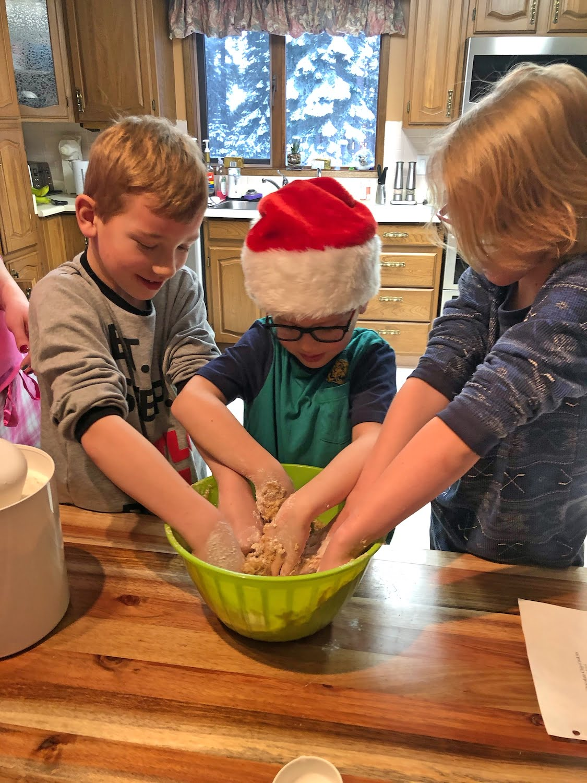 Kids Making Cookies for Santa