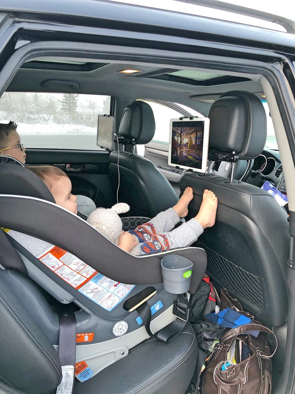 Kids in Car on Road Trip