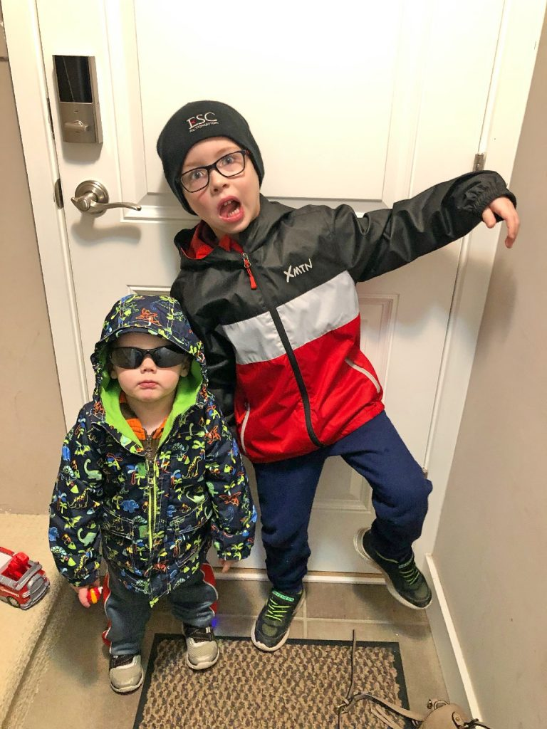 Brothers Being Silly