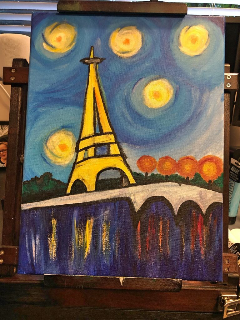 Paint Night Paris - Anya Wyers Finished Project