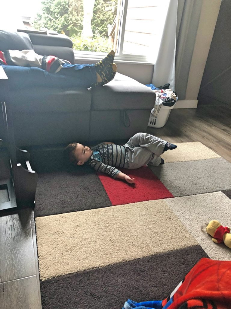 Toddler Chilling, Watching a Movie