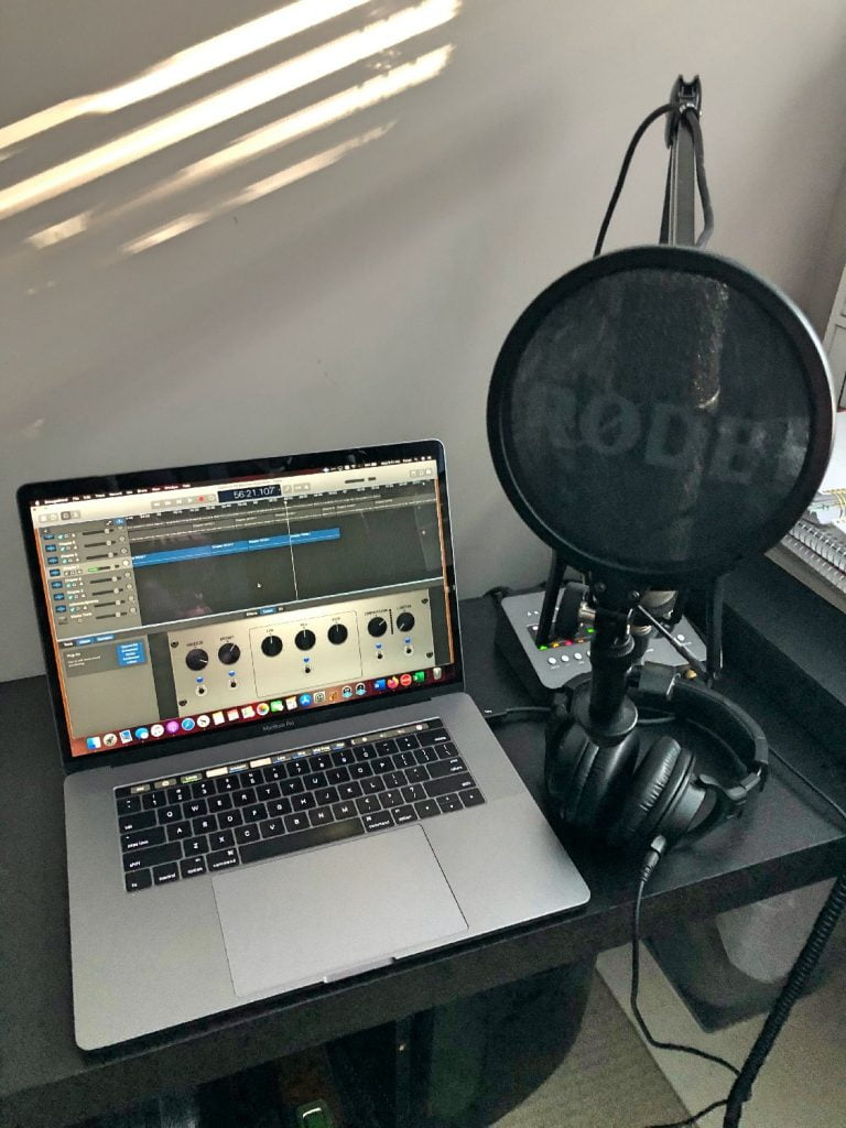 Setup for Recording Audiobook at Home