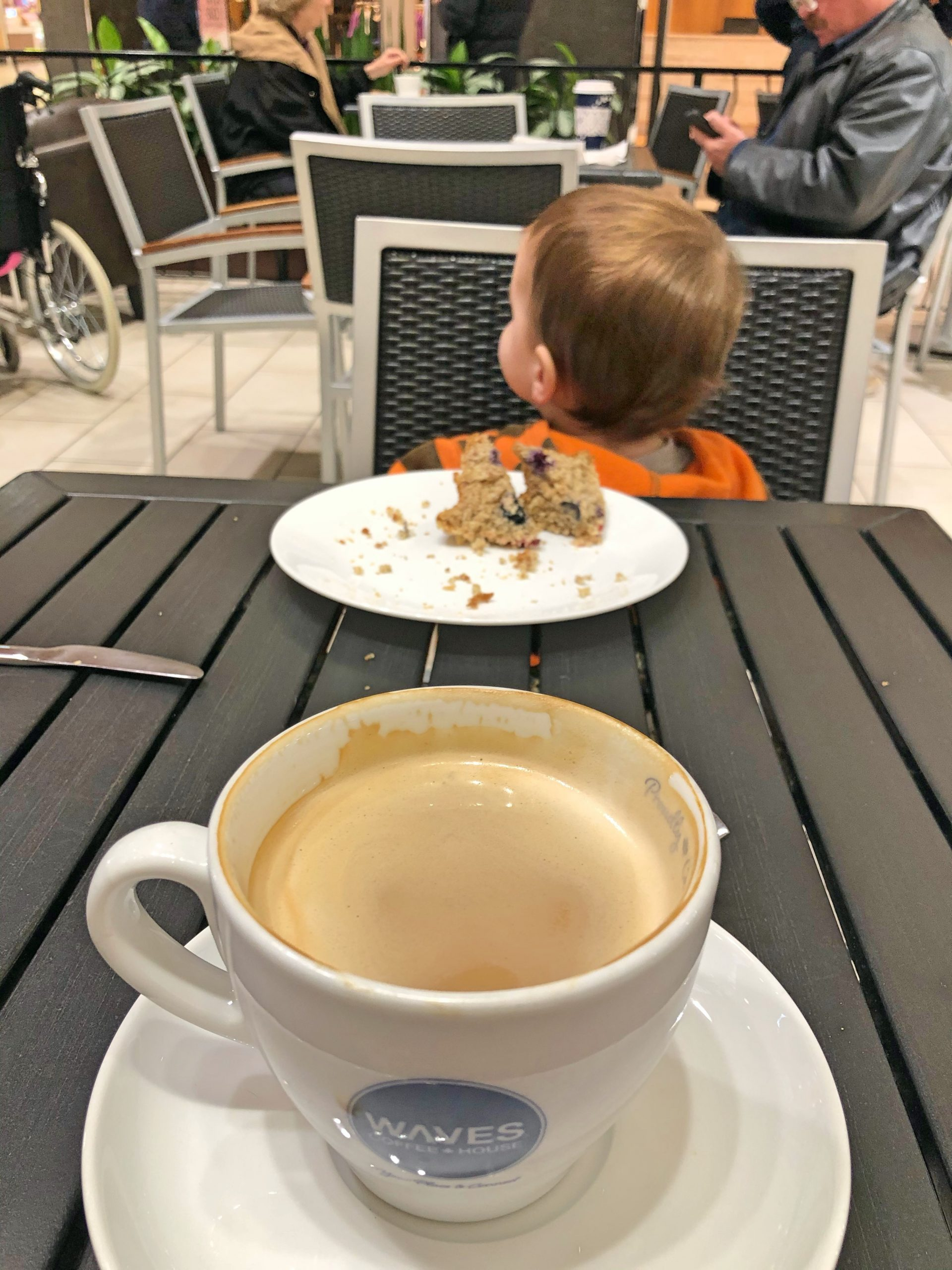 Coffee Date at Waves with Toddler