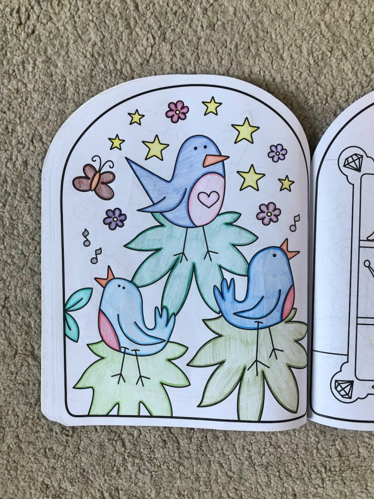 Fairy Colouring Book Completed Page