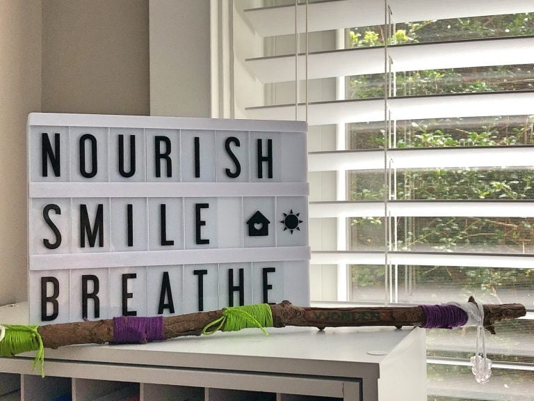 Nourish Smile Breathe Sign