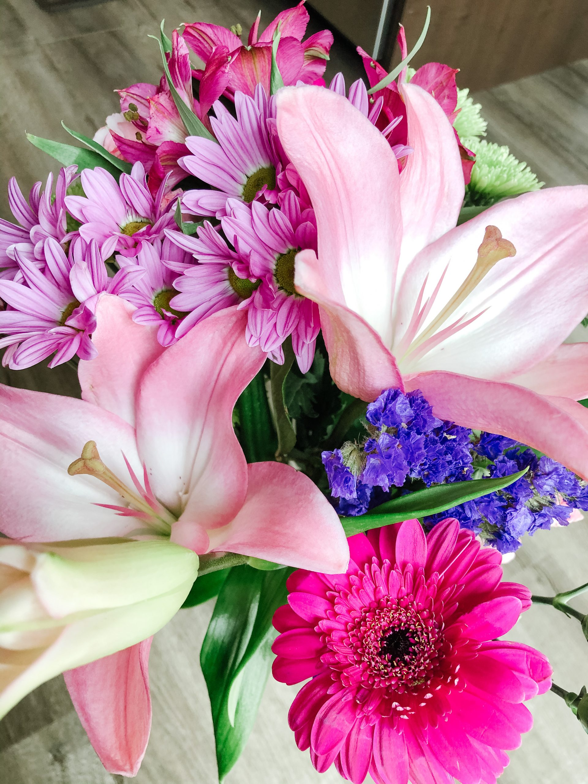 Pink Bouquet with Lilies