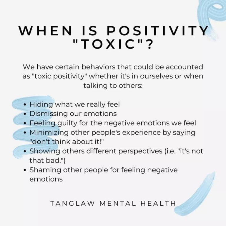 When is Positivty Toxic