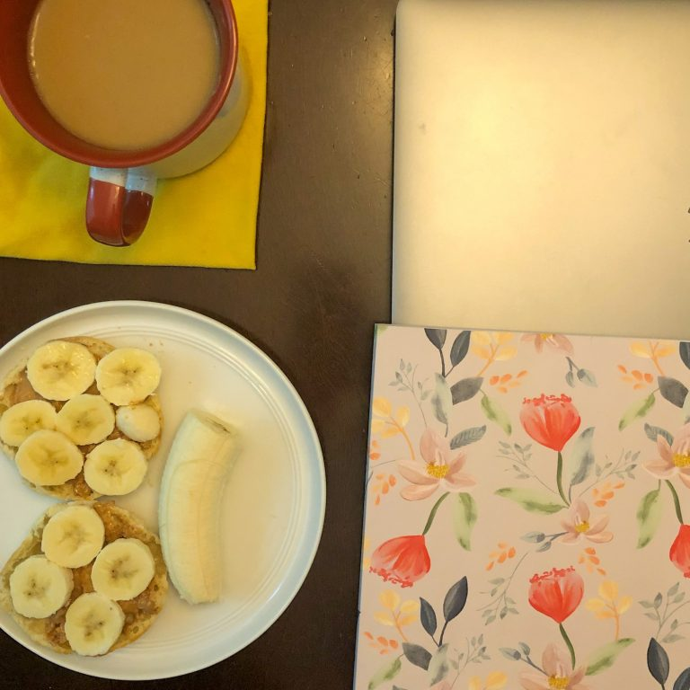 Breakfast, Notebook, Coffee and Lap Top