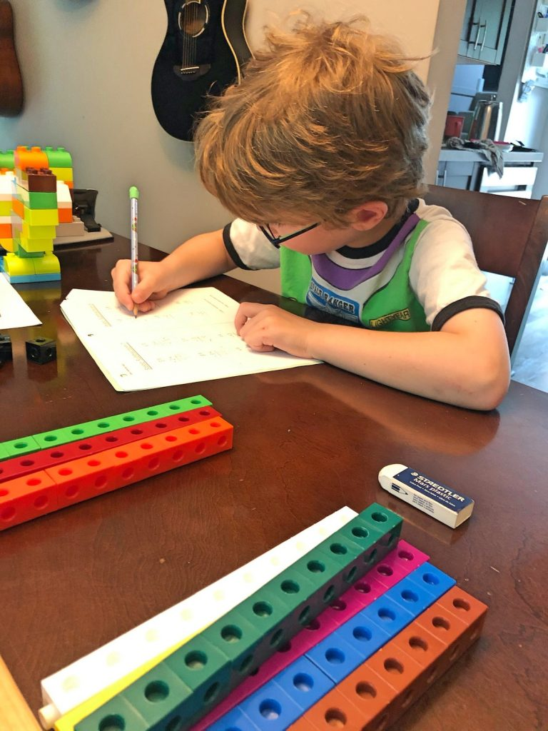 Montessori Math with Unit Cubes