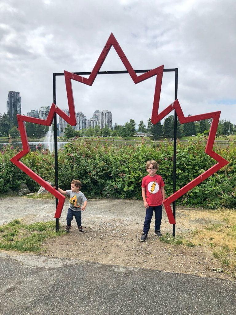 Kids Playing at Maple Leaf - Lafarge Lake