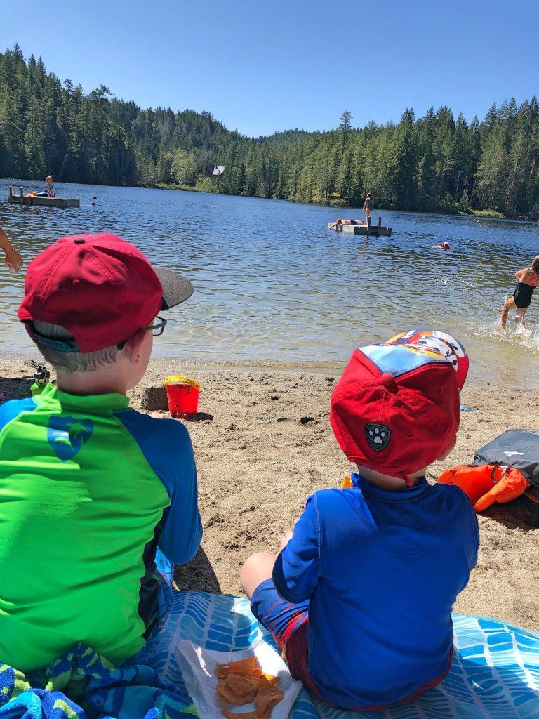 Kids From Behind at Katherine Lake
